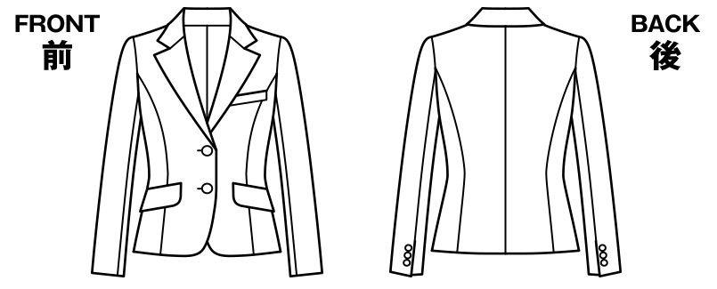 BONMAX AJ0235 [通年]アドレ ジャケット 無地 ハンガーイラスト・線画