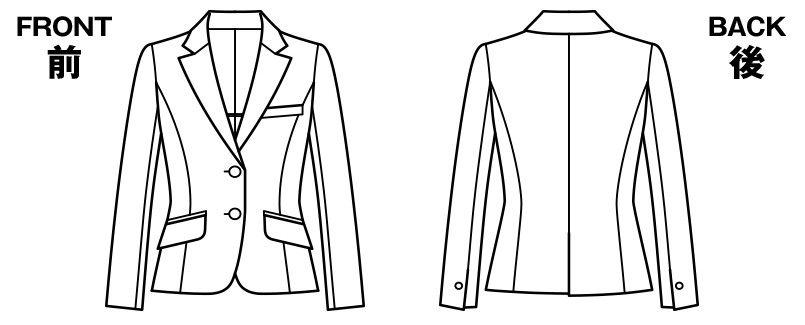 BONMAX ジュビリー [通年]抗菌防臭加工のジャケット 無地 ハンガーイラスト・線画