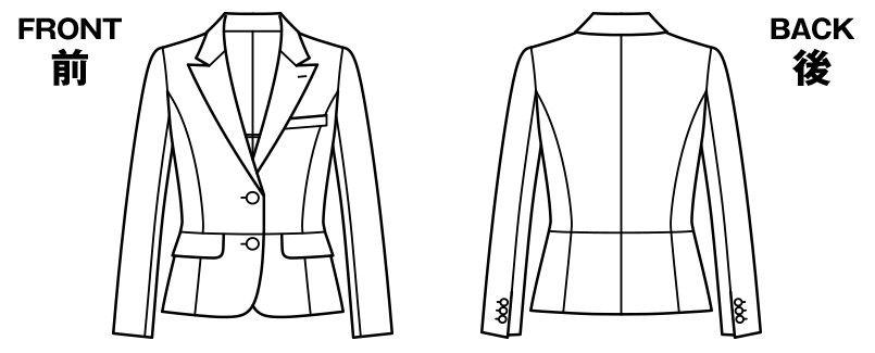 BONMAX AJ0247 [通年]オピニオン ストライプジャケット ハンガーイラスト・線画