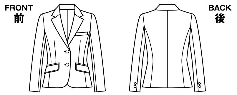 BONMAX AJ0249 [通年]リゲル ジャケット カラーストライプ ハンガーイラスト・線画