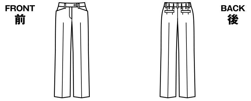 BONMAX AP6233 [通年]オピニオン 後ろゴムパンツ ストライプ ハンガーイラスト・線画