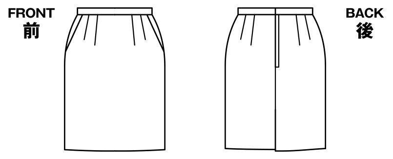 BONMAX AS2246 [通年]アウトラスト2 スカート ストライプ[温度調整機能付] ハンガーイラスト・線画