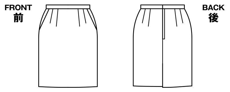 BONMAX AS2249 [通年]エターナル タイトスカート 無地 ハンガーイラスト・線画