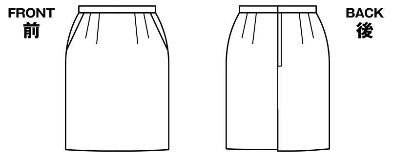 [在庫限り/返品交換不可]BONMAX AS2266 [通年]アドレ タイトスカート 無地 ハンガーイラスト・線画