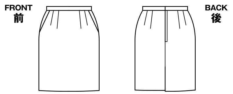 BONMAX AS2268 [通年]セゾン 消臭加工剤が不快なニオイを消臭するタイトスカート 無地 ハンガーイラスト・線画