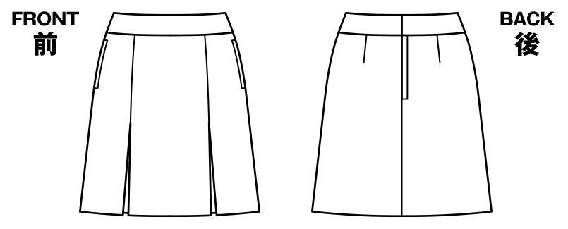 BONMAX AS2269 [通年]セゾン プリーツスカート チェック ハンガーイラスト・線画