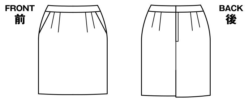 BONMAX AS2278 [通年]インプレス タイトスカート 無地[54cm] ハンガーイラスト・線画