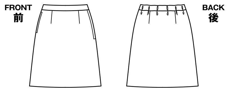 BONMAX AS2288 [通年]ディライト Aラインスカート ドット ハンガーイラスト・線画