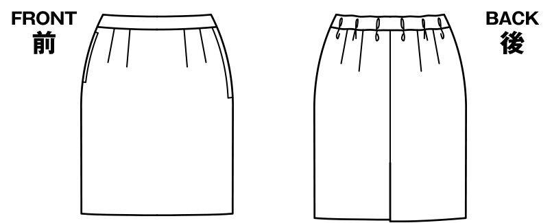 BONMAX AS2289 [通年]ディライト タイトスカート ドット ハンガーイラスト・線画