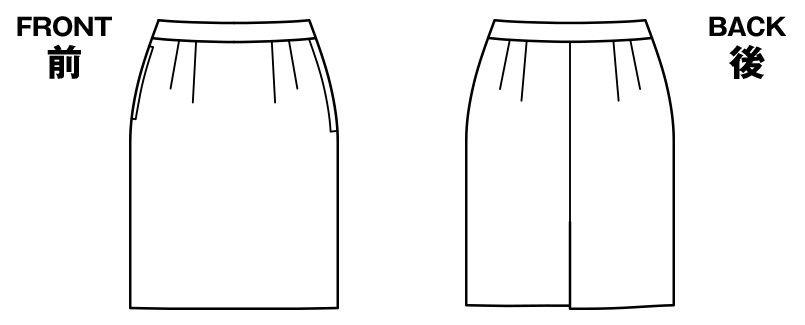 BONMAX AS2294 [通年]トリクシオントロピカル タイトスカート 無地 ハンガーイラスト・線画
