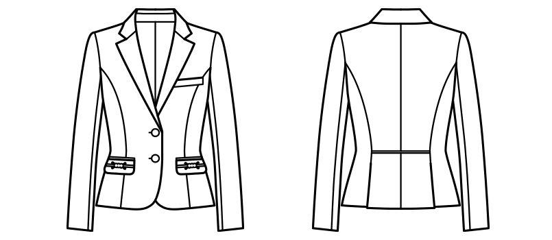 BONMAX BCJ0114 [通年]ニュアンスドビー ジャケット [チェック/ストレッチ] ハンガーイラスト・線画