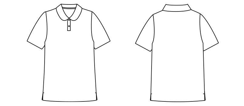 FB4029L ナチュラルスマイル フラットカラー ドライポロシャツ(女性用) ハンガーイラスト・線画