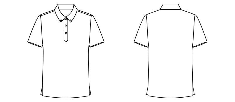 FB4524U FACEMIX アロハプリントポロシャツ(男女兼用)ボタンダウン ハンガーイラスト・線画