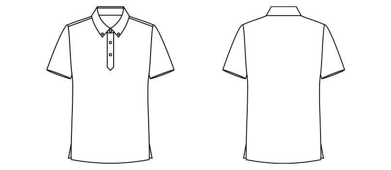 FB4525U FACEMIX アロハプリントポロシャツ(男女兼用)ボタンダウン ハンガーイラスト・線画