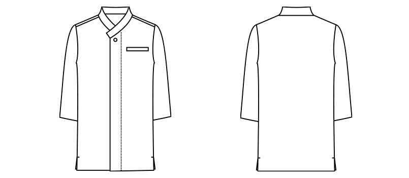 FB4533U FACEMIX 和衿ニットシャツ(男女兼用) ハンガーイラスト・線画