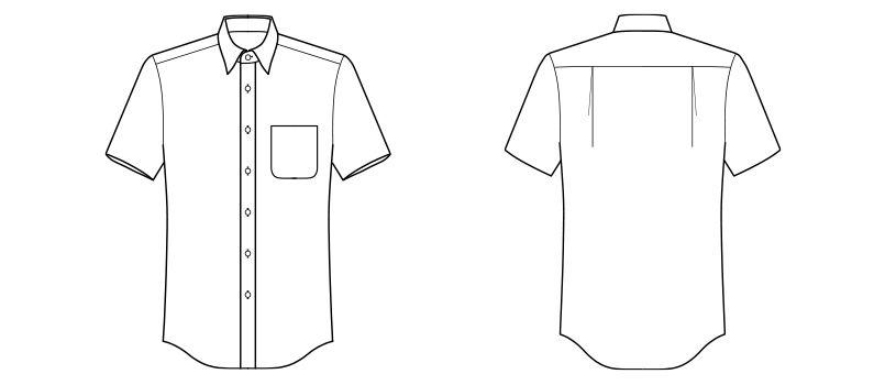 FB4535U FACEMIX レギュラーカラーシャツ/半袖(男女兼用) ハンガーイラスト・線画