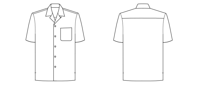 FB4545U FACEMIX アロハシャツ(ウミガメ)(男女兼用) ハンガーイラスト・線画