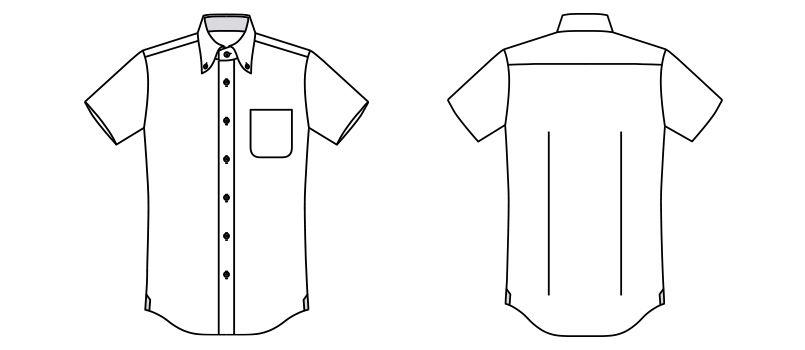 FB5027M FACEMIX ドライ 吸汗速乾ニットシャツ/半袖(男性用) ハンガーイラスト・線画