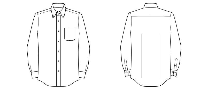FB5028M FACEMIX 吸汗速乾ニットシャツ/長袖(男性用) ハンガーイラスト・線画
