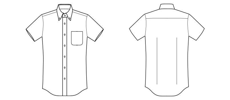 FB5029M FACEMIX 吸汗速乾ニットシャツ/半袖(男性用) ハンガーイラスト・線画