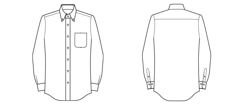 FB5030M FACEMIX 調温シャツ/長袖(男性用) ハンガーイラスト・線画