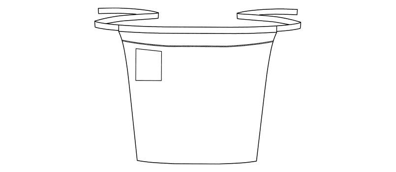 FK7119 FACEMIX パイピングポイントロングエプロン ハンガーイラスト・線画