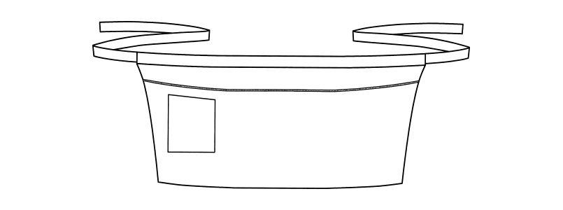 FK7120 FACEMIX パイピングポイントショートエプロン ハンガーイラスト・線画