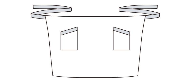 FK7123 FACEMIX チェック柄ロングエプロン ハンガーイラスト・線画