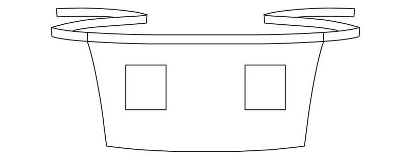 [在庫限り/返品交換不可]FK7138 FACEMIX ショートエプロン(男女兼用) ハンガーイラスト・線画