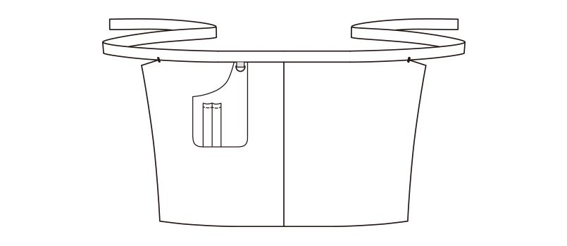 FK7150 FACEMIX ヒッコリーサロンエプロン ハンガーイラスト・線画