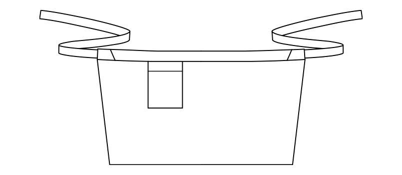 FK7152 FACEMIX 和ショートエプロン(男女兼用) ハンガーイラスト・線画