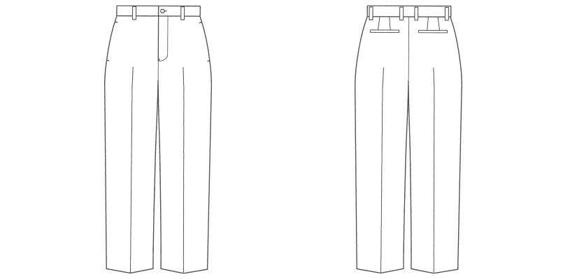 FP6000M FACEMIX/PAMIO(パミオ) ノータックストレートパンツ(男性用) 無地 ハンガーイラスト・線画