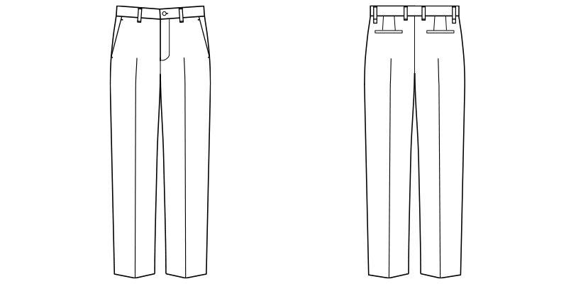 FP6010M ナチュラルスマイル ストレッチスタンダードチノパン(男性用) ハンガーイラスト・線画