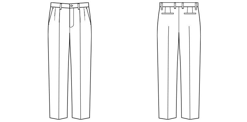FP6011M FACEMIX ストレッチゆったりチノパン(男性用) ハンガーイラスト・線画