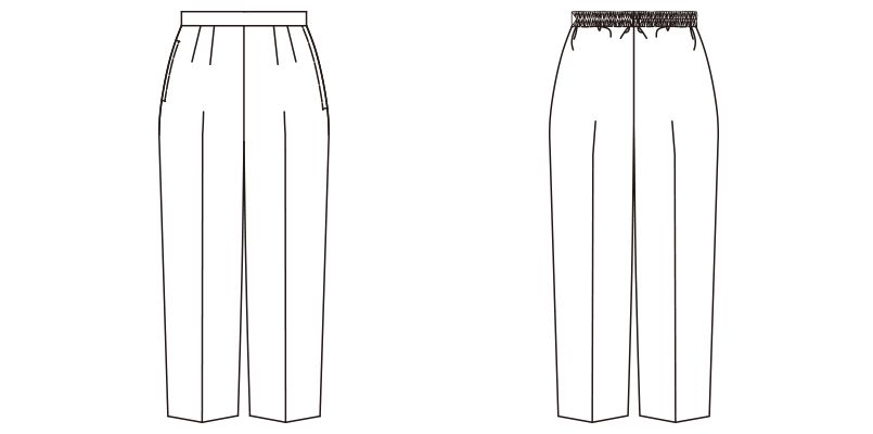 FP6303L FACEMIX レディースコックパンツ(女性用) ハンガーイラスト・線画
