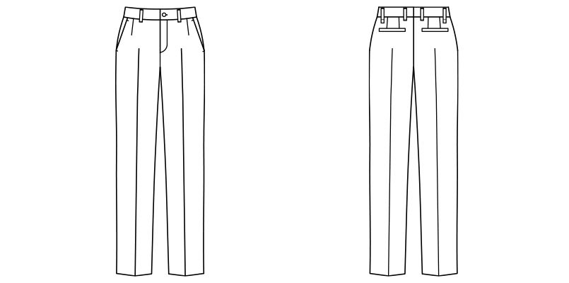 FP6310L ナチュラルスマイル ストレッチスタンダードチノパン(女性用) ハンガーイラスト・線画