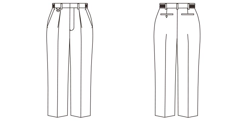 FP6700U FACEMIX 裾上げらくらくパンツ(男女兼用) ハンガーイラスト・線画
