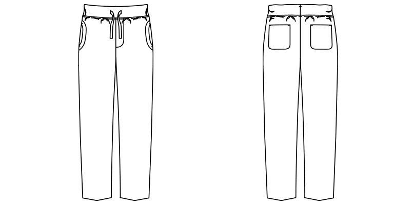 FP6703U ナチュラルスマイル ストレッチチノジャージ パンツ(男女兼用) ハンガーイラスト・線画