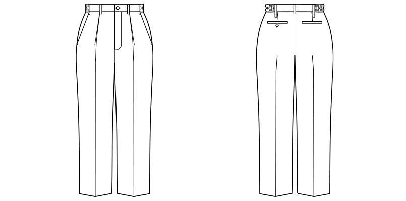 FP6704U FACEMIX 裾上げらくらくチノパンツ(男女兼用) ハンガーイラスト・線画