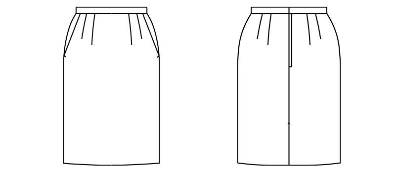 FS2003L FACEMIX/GRAND(グラン) ストレッチスカート(女性用) 無地 ハンガーイラスト・線画
