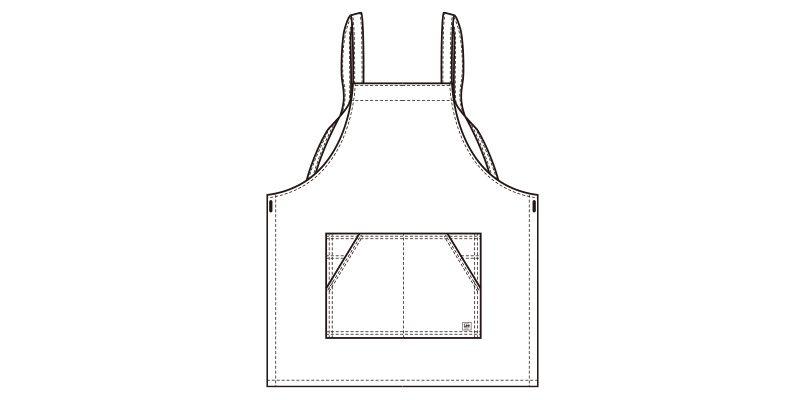 LCK79003 Lee 胸当てエプロン(男女兼用) ハンガーイラスト・線画