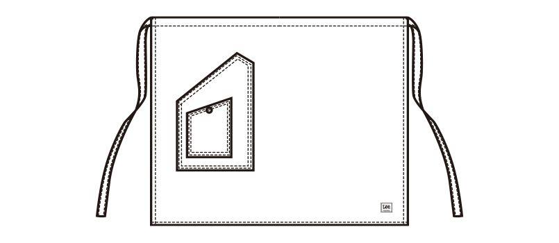LCK79004 Lee ミドルエプロン(男女兼用) ハンガーイラスト・線画