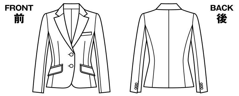 BONMAX LJ0159 [通年]リブラ ジャケット ドット ハンガーイラスト・線画