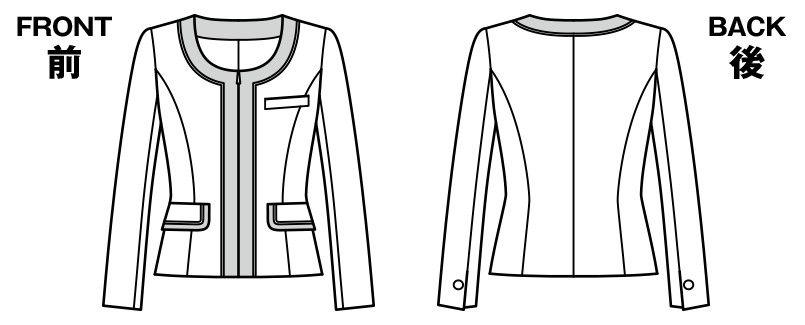 BONMAX LJ0163 [通年]フェリーチェ ジャケット チェック ハンガーイラスト・線画