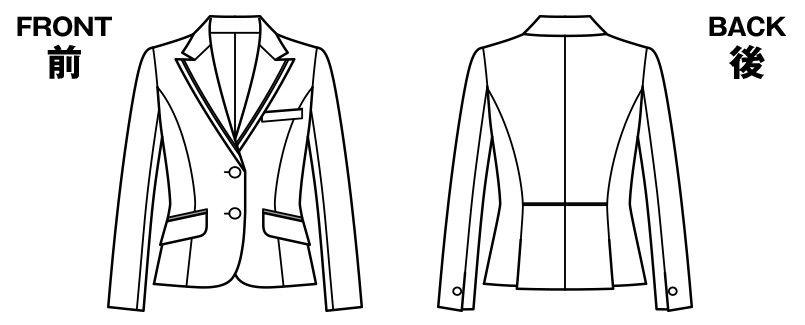 [在庫限り/返品交換不可]BONMAX LJ0168 [通年]カルム ジャケット 無地 ハンガーイラスト・線画