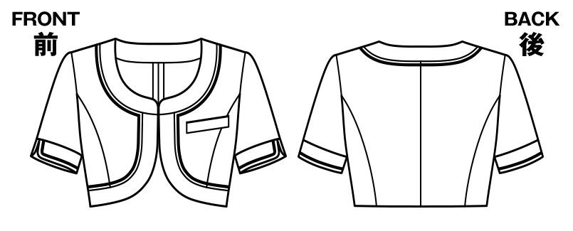 BONMAX LJ0744 [春夏用]アミティエ ボレロ 千鳥格子 ハンガーイラスト・線画