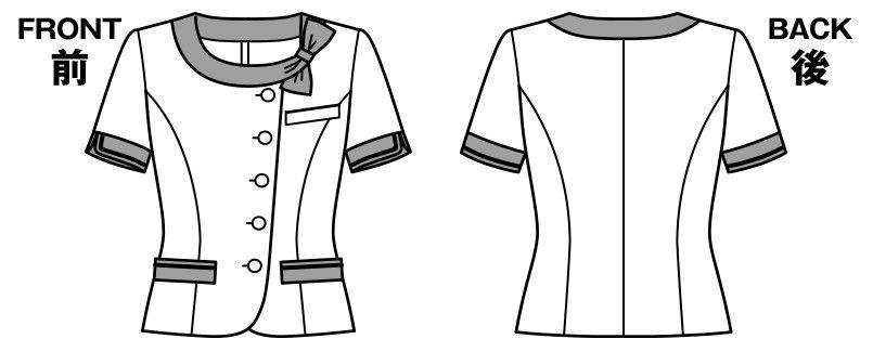 LJ0746 BONMAX/アミティエ ソフトジャケット 無地×チェック ハンガーイラスト・線画