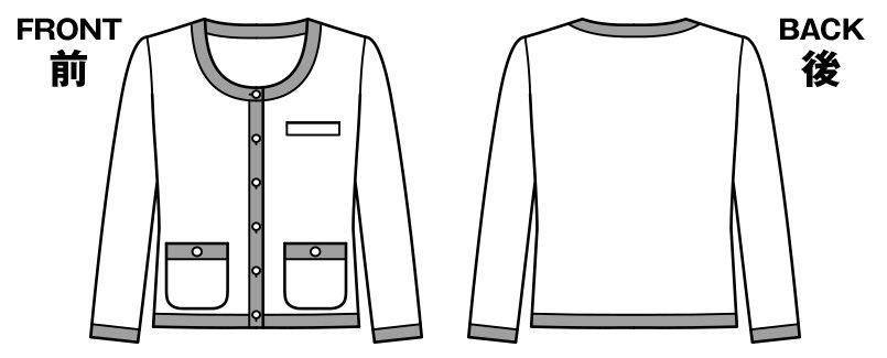 [在庫限り/返品交換不可]LJ0755 BONMAX/ホライズン ライトジャケット ボーダー ハンガーイラスト・線画