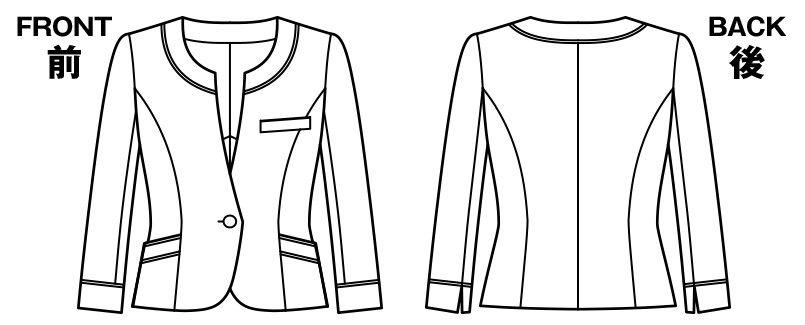 BONMAX LJ0759 [春夏用]プラティーヌ ジャケット 無地 ハンガーイラスト・線画