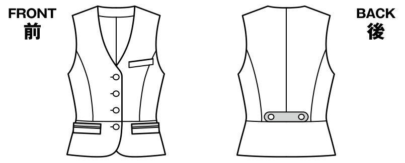 BONMAX LV1171 [通年]フェリーチェ ベスト チェック ハンガーイラスト・線画